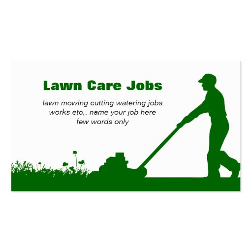 Lawn Care Business Card With Darker Green Colors Zazzle
