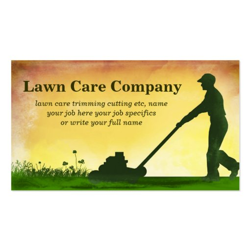 Lawn Care Business Plan Sample