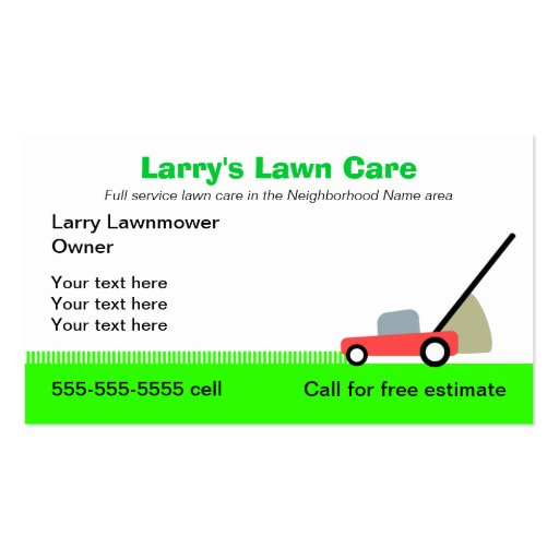 Sample Lawn Care Business Plan