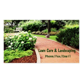 Card Templates Lawn Landscaping Business