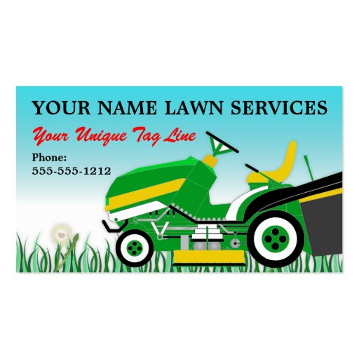 Lawn Mower Landscaping Groundskeeping Service Business