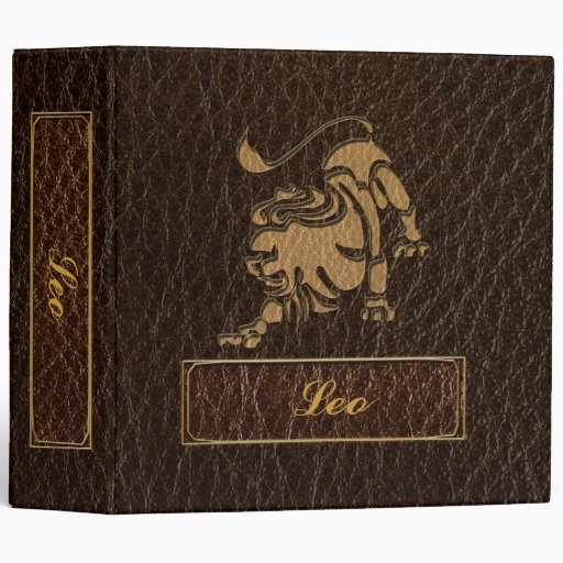 Leather-Look Leo 3 Ring Binder