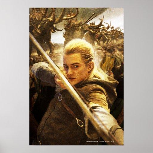 LEGOLAS GREENLEAF™ Drawing His Bow Poster | Zazzle