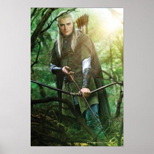 LEGOLAS GREENLEAF™ with bow Poster | Zazzle