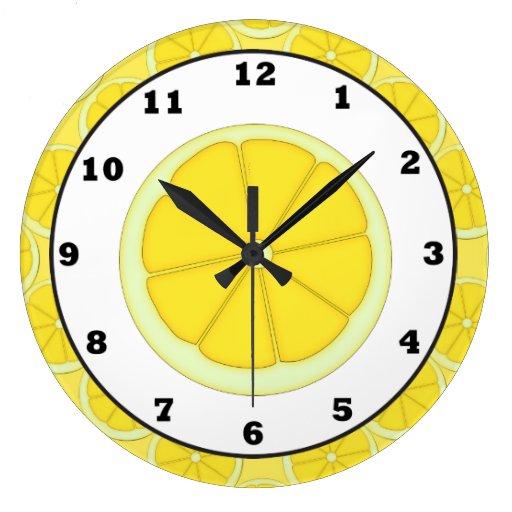 Lemon Kitchen Wall Clock
