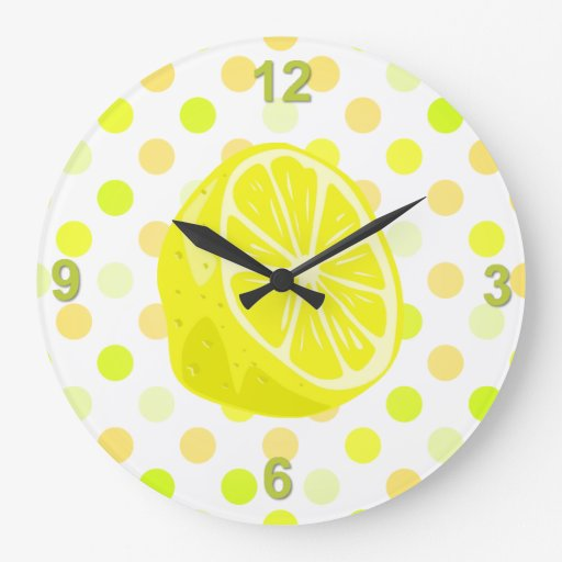 Lemon Kitchen Wall Clocks