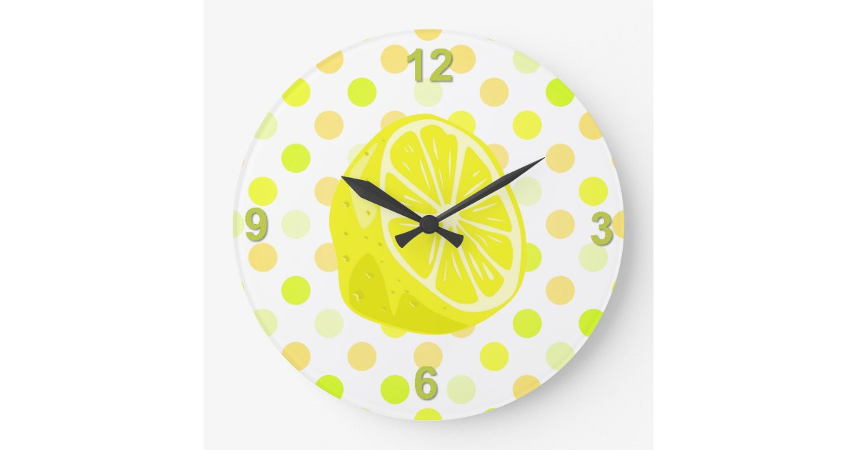 Lemon Kitchen Wall Clock