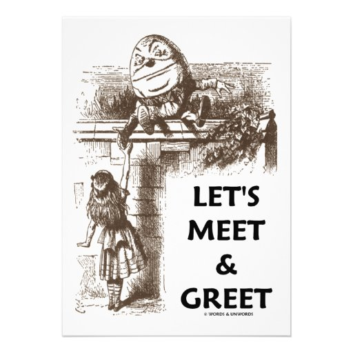 Meet And Greet Announcement For A Bridal Party