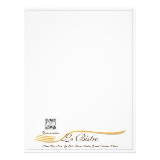 Restaurant menu letterhead zazzle for Fine dining menu template free