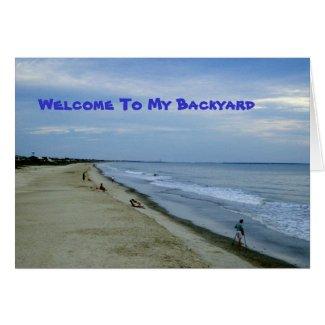 Life Along The Beach card