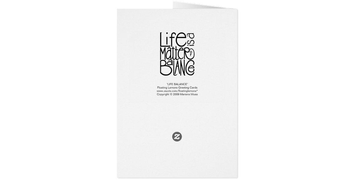 life of balance card
