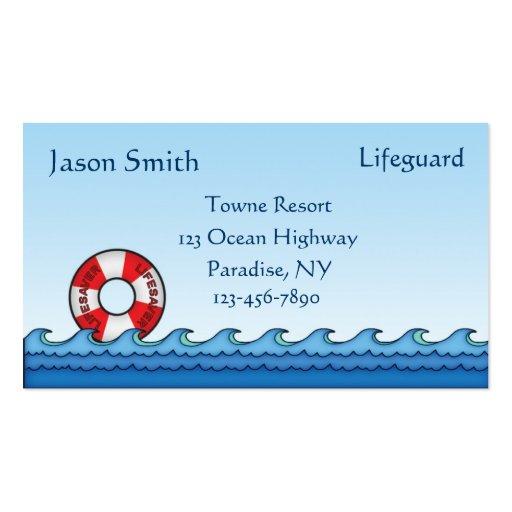Lifeguard Business Cards Bizcardstudio