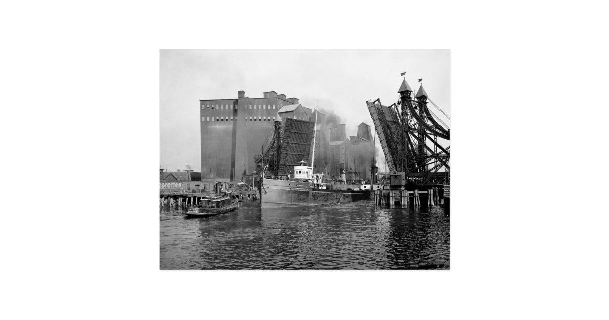 Lifting Bridge Buffalo Ny 1900 Postcard Zazzle