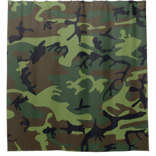 Light Green, Dark Green, Black Camo Camouflage Shower ...