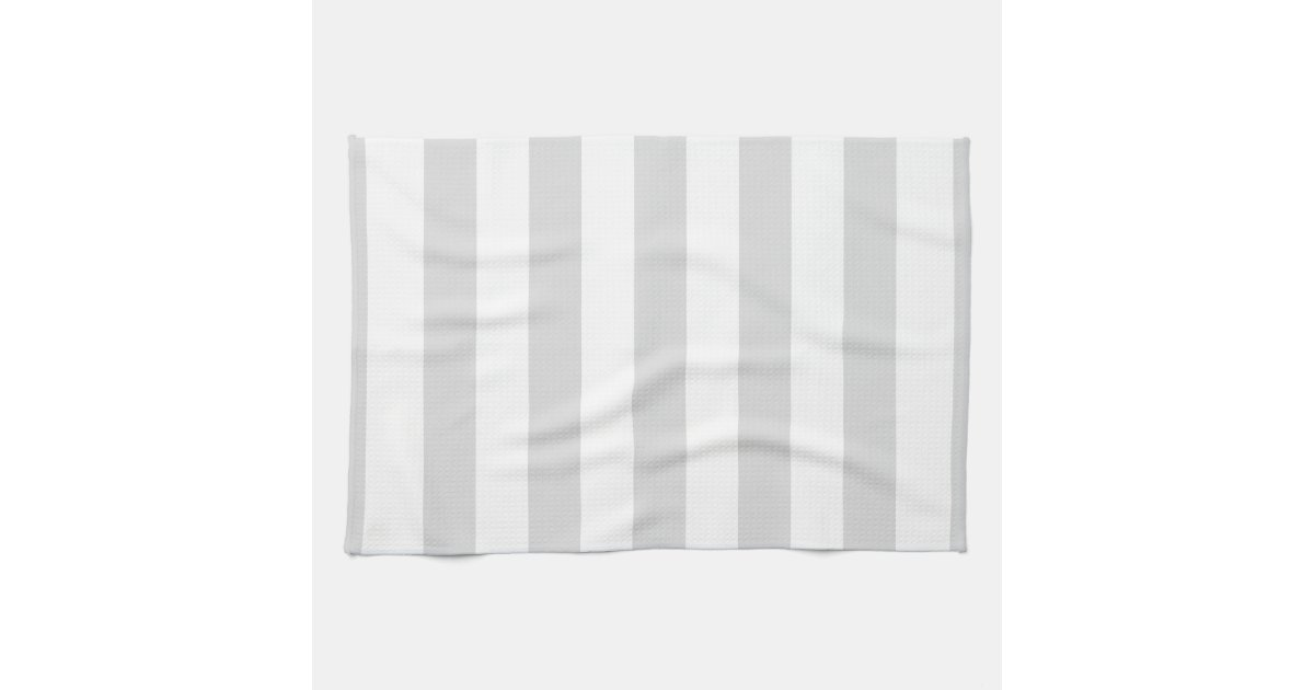 light grey and white xl stripe pattern hand towel zazzle. Black Bedroom Furniture Sets. Home Design Ideas