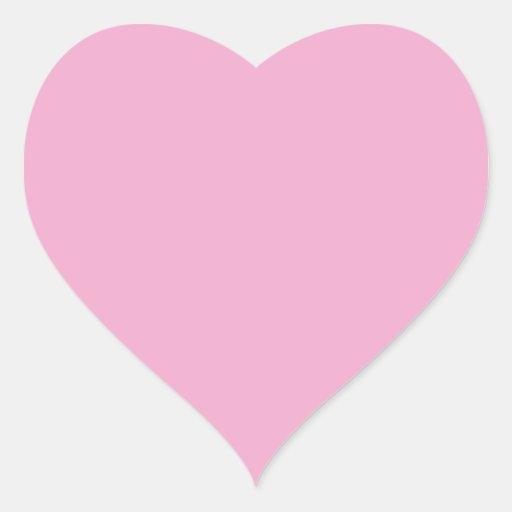 Light Pastel Pink Heart Sticker | Zazzle