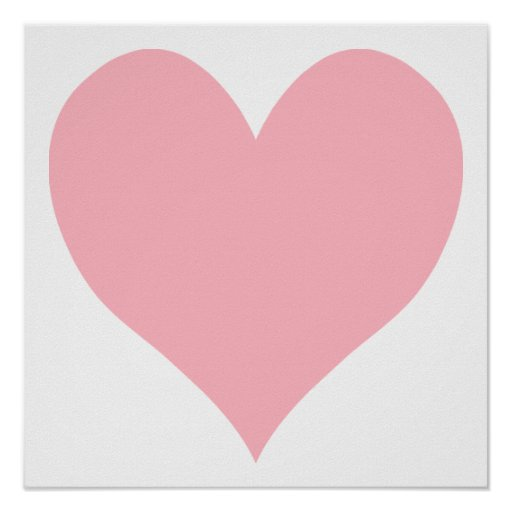 Light Pink Heart Poster | Zazzle