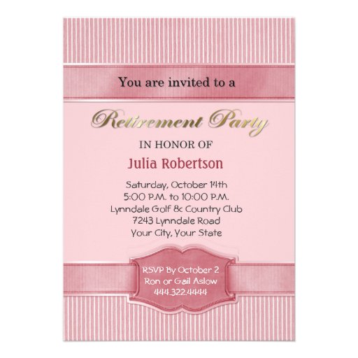 Free E Invite For Retirement Party Just B Cause