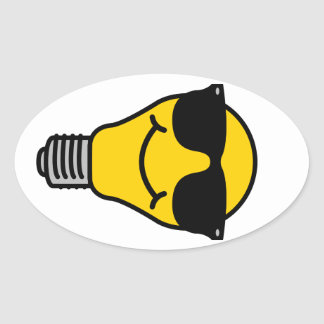 Lightbulb stickers zazzle for Oval bumper sticker template