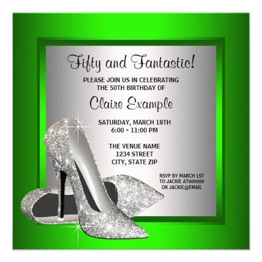 High Heel Birthday Party Invitations