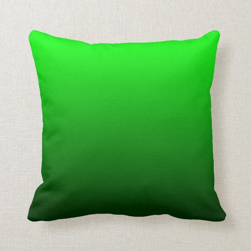 Lime Green Ombre Throw Pillow Zazzle