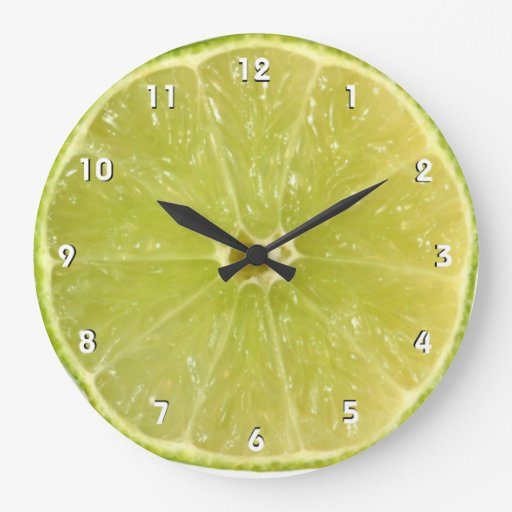 Lime Wall Clock With Numbers Zazzle