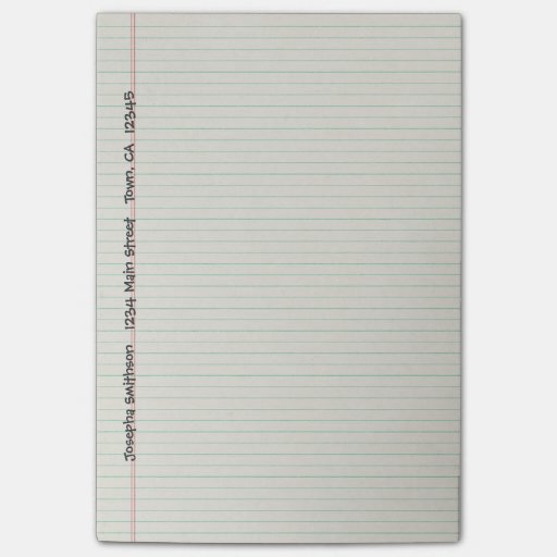 Lined Notebook Binder Paper Custom Post-it® Notes