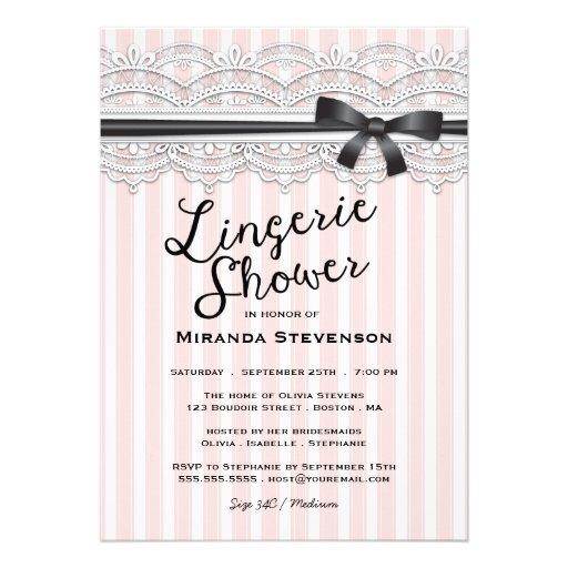 Lingerie Shower Invitation 119