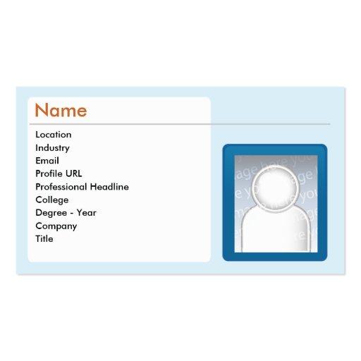 Linkedin Business Card Template