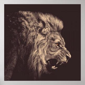 Roaring Lion Posters   Zazzle