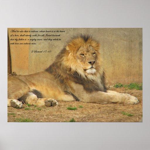 Lion Scripture Poster