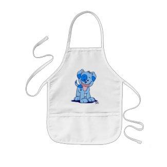 Little blue puppy cooking apron apron