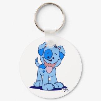 Little blue puppy keychain keychain