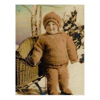 Little Boy Snow Bunny, circa 1930