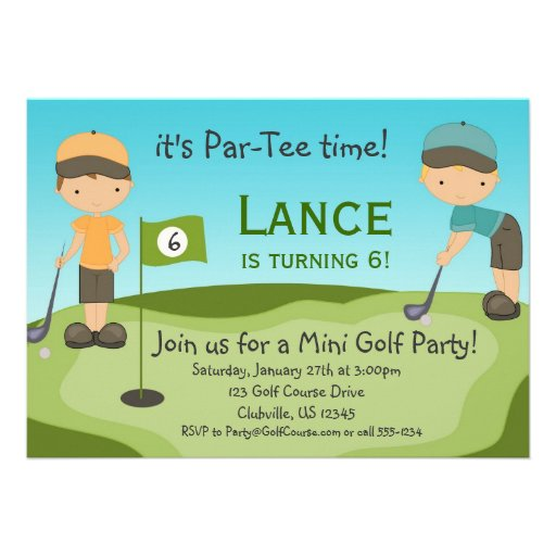 Personalized Mini golf Invitations CustomInvitations4Ucom