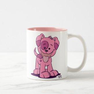 Little pink puppy mug mug