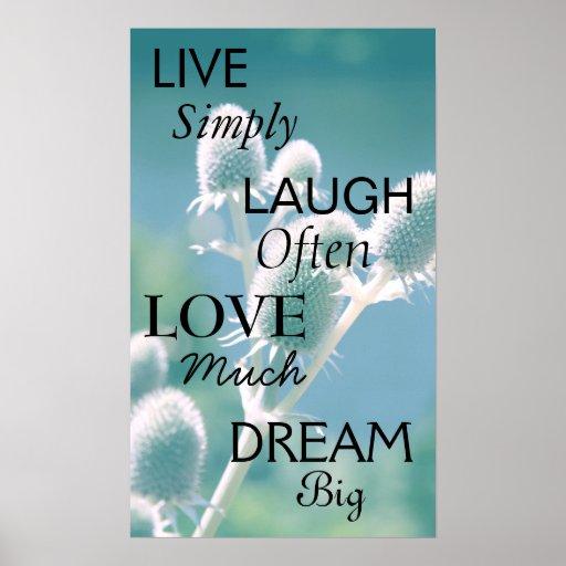 Live Laugh Love Dream Print
