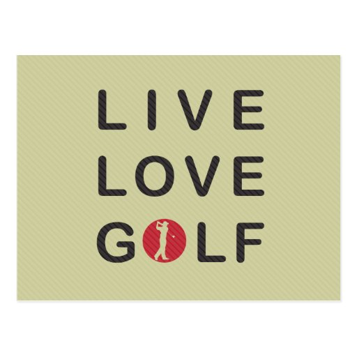 live love golf golfing red black postcard zazzle. Black Bedroom Furniture Sets. Home Design Ideas