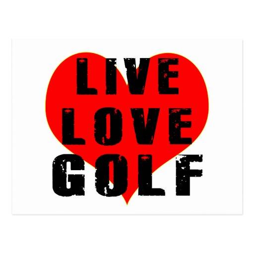 live love golf postcard zazzle. Black Bedroom Furniture Sets. Home Design Ideas