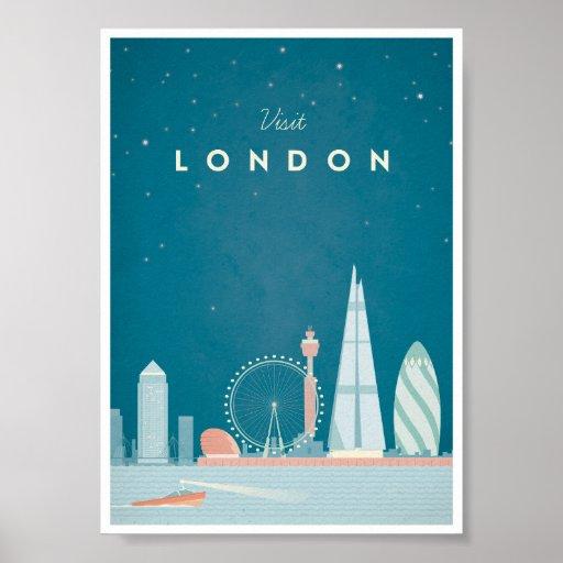 London Vintage Travel Poster Zazzle