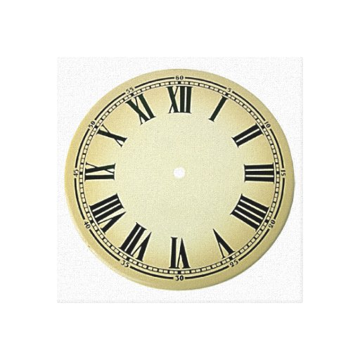 Look No Hands Clock Face Wrapped Canvas Gallery Wrap