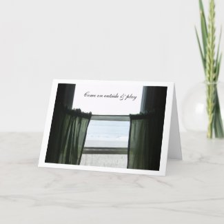 Looking Out The Window Beachhouse card