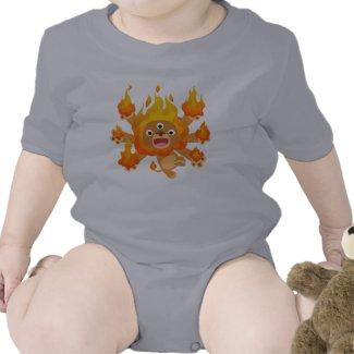 Lord of Fire!! (cute cartoon lion) Baby T-Shirt shirt