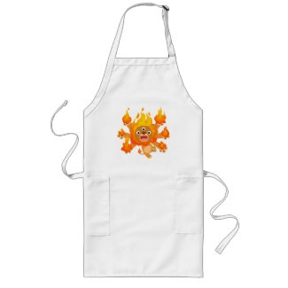 Lord of Fire!! (cute cartoon lion) Cooking Apron apron