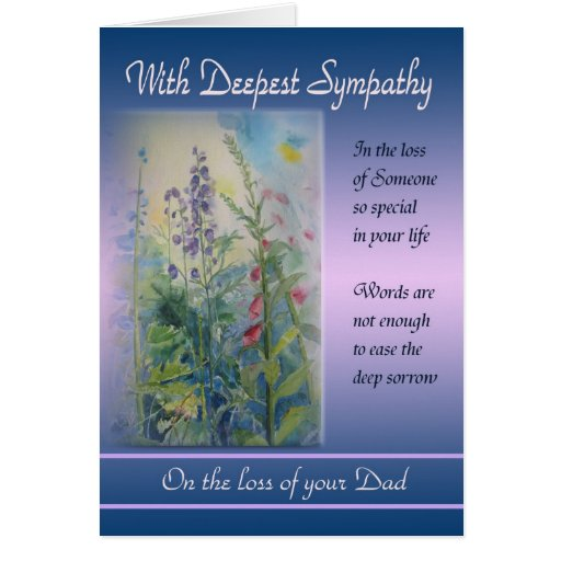 Losing A Father To Cancer Quotes: Loss Of Dad - With Deepest Sympathy Card