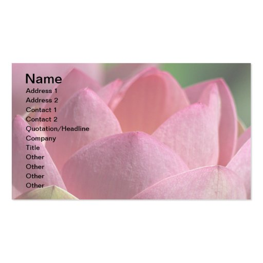 Lotus Business Card Templates