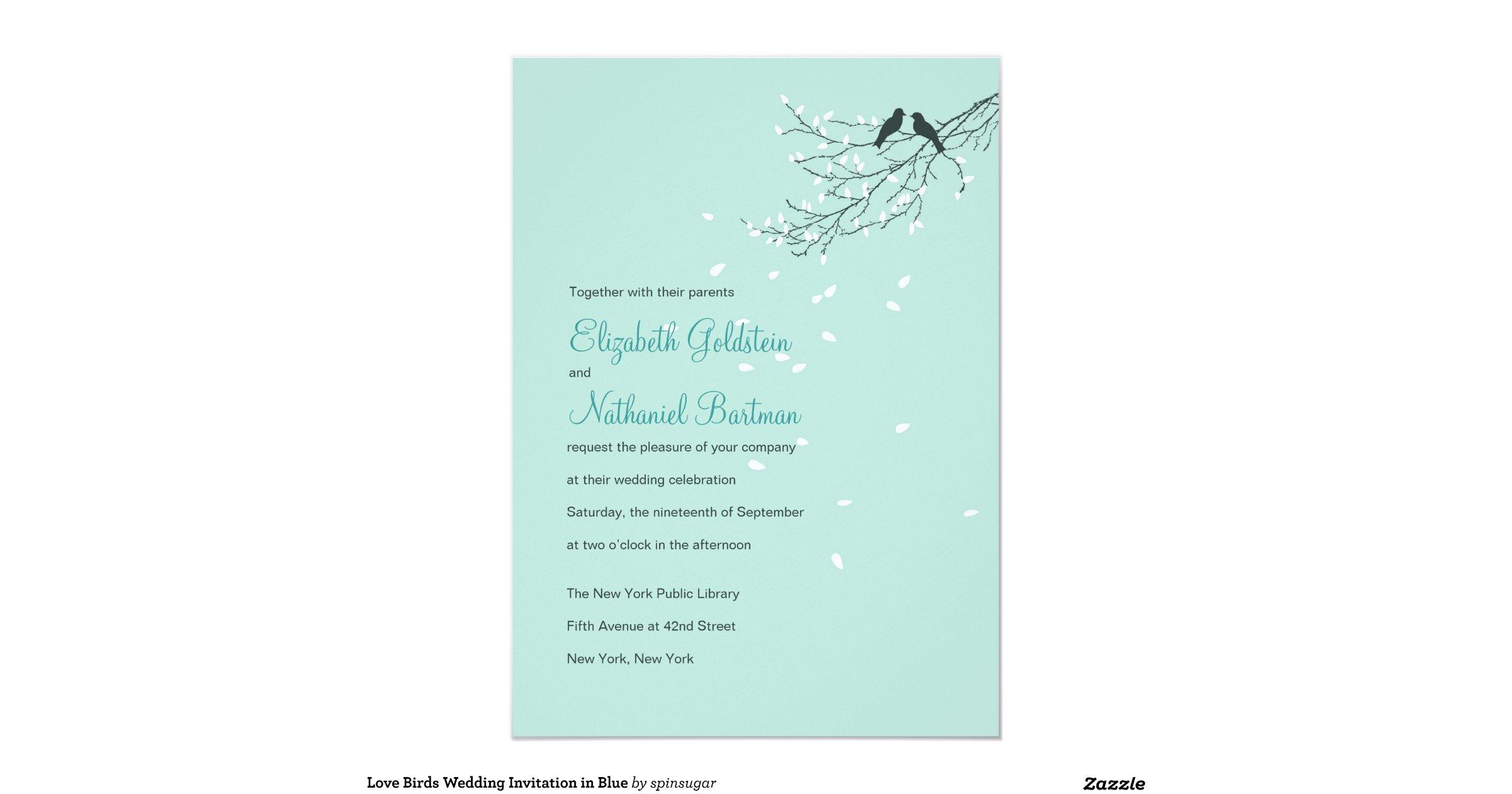 Love Birds Wedding Invitations: Love_birds_wedding_invitation_in_blue