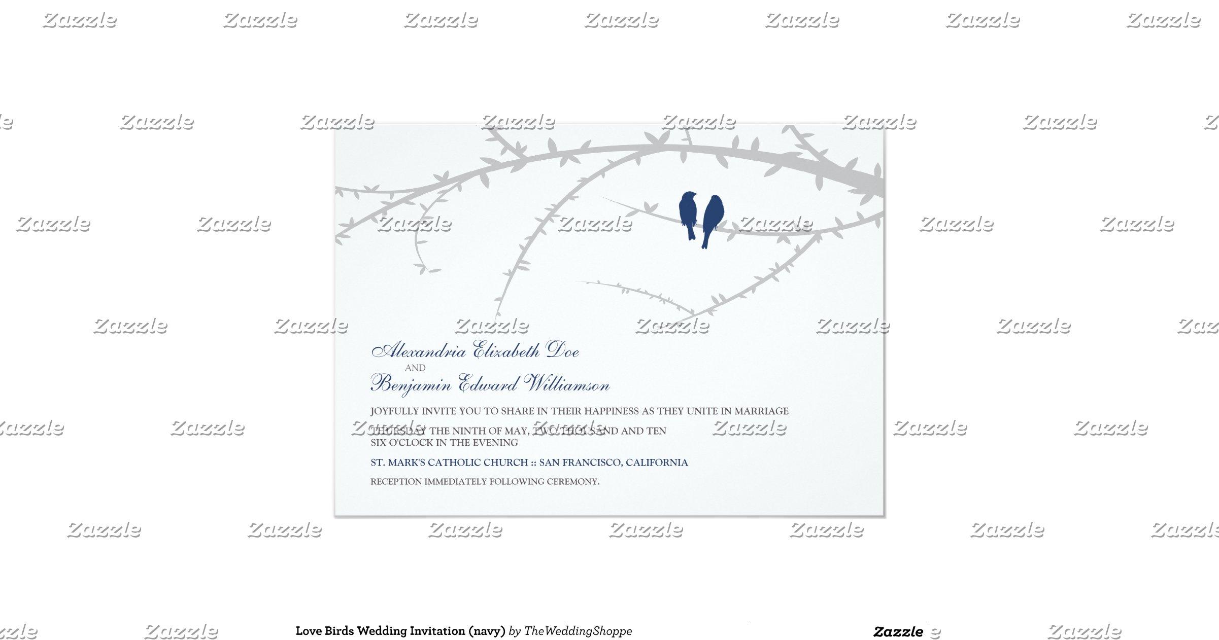 Love Birds Wedding Invitations: Love_birds_wedding_invitation_navy