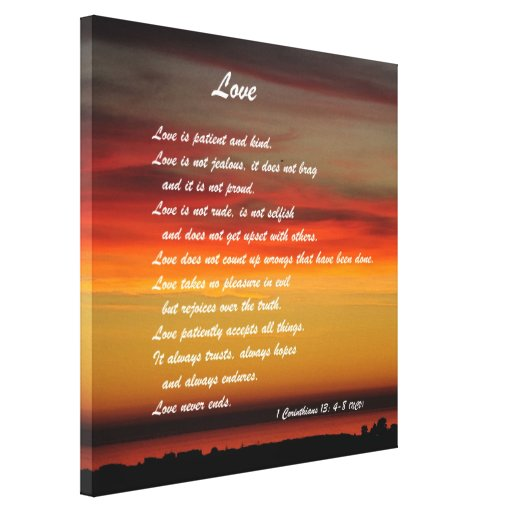 """Love"" Custom Art Print With 1 Corinthians 13: 4-8"