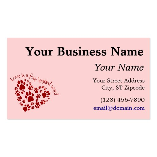 Word Template Business Card
